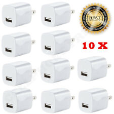 10x White 1A USB Power Adapter AC Home Wall Charger US Plug FOR iPhone 5S 6 7 8