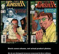 Punisher, The: Origin Micro Chip 1 2 Marvel 1993 Complete Set Run Lot 1-2 VF/NM