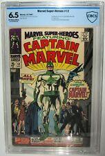 Marvel Super-Heroes #12 1st Appearance Captain Marvel Mar-Vel CBCS>CGC 6.5 1967