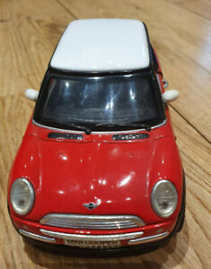 S red mini cooper car toy SS 6711 1/24 2001