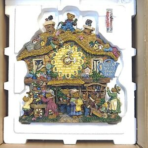 Boyds Bears Danbury Mint Garden Shop Clock In Original Box Perfect Condition!