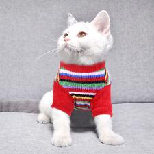 Fleece Cat Jumper Kitten Sweater Hand Knitted Cat Clothing Coat Winter Clothes