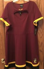 Harry Potter Gryffindor Retro/Halloween Plus Dress Hot Topic Size 4