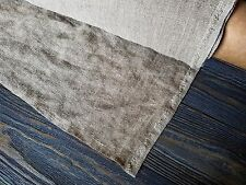 Natural rough organic pure linen fabric softened heavy beige linen upholstery