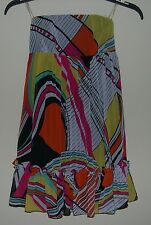 Forever Twenty One Strapless Dress Size S 100% Polyester back Zipper