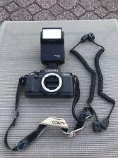 Contax 167MT 35mm SLR Camera Body with Contax Flash Japan READ Description