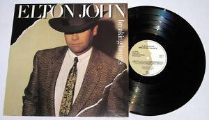 UK Pressing ELTON JOHN Breaking Hearts LP Record