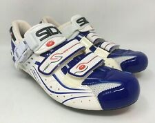 SIDI GENIUS 6.6 Lite Carbon Road Cycling Shoes EU 41 US 7.5 White Blue MSRP $450