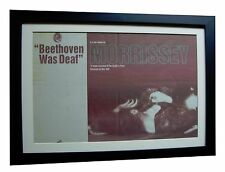MORRISSEY+Beethoven Deaf+POSTER+AD+RARE ORIGINAL 1993+FRAMED+EXPRESS GLOBAL SHIP