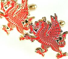 ROYAL WELCH FUSILIERS CLASSIC HAND MADE RAMPANT DRAGON REGIMENTAL CUFFLINKS