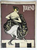 Dancing Woman Jugend Magazine 1900 Issue 29 Jugenstil Art Nouveau graphics