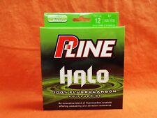 P-LINE HALO 100% Fluorocarbon Co-Fluoride Line 12b (200yd) #HF200-12 Mist Green