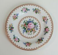 Royal Albert Lady Carlyle China Bread Dessert Salad Plate Gold Leaf Roses