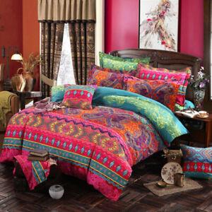 Bohemian 3 PC Duvet Cover Set Quilt Cover King Size Bedding Sets Pillow Covers