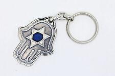 HAMSA keychain ring Cohanim Blessing element amulet charm hand star of david