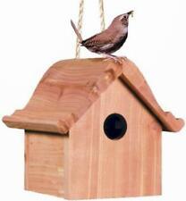 Hanging Cedar Birdhouse Wood Bird House Home Unfinished Birdhouses Outdoor Decor