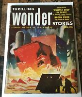 THRILLING WONDER STORIES  PULP AUG 1953 GOLDEN AGE of SCIENCE FICTION