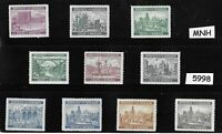 MNH Stamp set / Third Reich / Architecture /  B a M / WWII Germany Protectorate