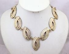 Collana Vintage Tono Oro con Ovali Satinati