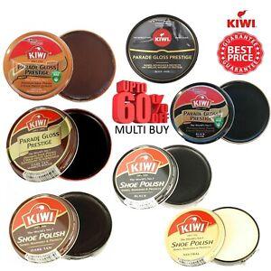 Kiwi Parade Gloss Shoe Polish Black Boot Neutral Shine Wax Dark Tan Brown 50ml