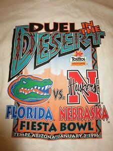Florida Gators Nebraska Huskers 1996 NCAA Football Natl Champ Shirt XL 48