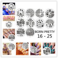 10pcs/Set Nail Art Stamping Plates Image Stamp Template  #16 - 25 Born Pretty