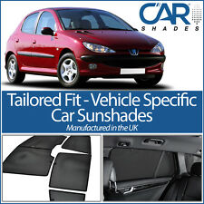 Peugeot 206 5dr Set 98-06 UV CAR SHADES WINDOW SUN BLINDS PRIVACY GLASS TINT