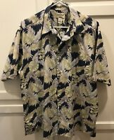 COOKE STREET Men's Sz Large Hawaiian Print Short Sleeve Shirt Aloha