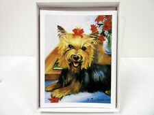 New Yorkshire Terrier Dog Holiday Cards Set 6 Note Cards &  Envelopes Yorkie