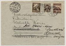 ÖSTERREICH 1938 AUSLANDSBRIEF, SALZBURG nach REINACH (Schweiz) M.i.F. DR.Marken!