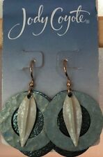 Jody Coyote Earrings JC0862 New QN200-01 gold blue dangle Tranquil Collection