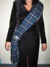 "Ladies OR Mens Douglas Scottish Tartan Sash Scarf 88"" X 11"" NEW w/ DEFECT"