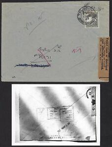 Palästina 1948 Interim Zeitraum Tel Aviv Domestic Cover Britisch Found Geöffnet