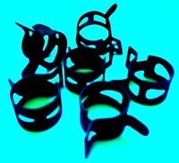 "17//32/""-19//32/"" #32 10 13.5-15.1mm Nylon Black Hose Clamps"