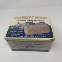 vintage National Biscuit Co. Shredded Wheat Tin Special Edition 1987  8x6x4