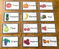 Fruit Flash Cards Kids Toddlers Preschool EYFS Early Learning Resource Sen