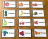 Fruit Flash Cards Kids Toddlers Preschool EYFS Early Learning Resource Sen