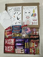 Christmas Hamper Box Sweets Father Christmas Crafts Gift Girl Unicorn Frozen
