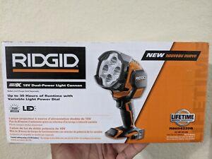 NEW RIDGID 18 VOLT CORDLESS CANNON WORK LIGHT FLASHLIGHT R8694220B BARE TOOL