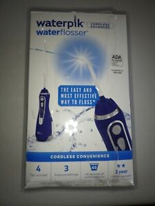 Waterpik Cordless Water Flosser Rechargeable Portable Oral Irrigator Wp-563 Blue