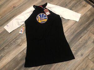 Nwt's Golden State Warriors Mitchell & Ness Raglan Night T-Shirt Women's Medium