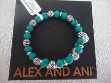 Alex and Ani ELECTRIC WRAP, TROPICAL Rafaelian Silver Bangle W/Tag Card & Box
