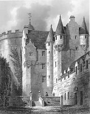Castle Court Yard~counted cross stitch pattern #347~Landscapes Castles Chart