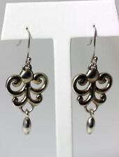 Earrings 2-1/8� Mexico – 5622 Beautiful Sterling Silver Little Pendants Dangle