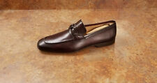 New! Magnanni '21657' Apron Toe Brown Leather Loafers Mens 8 US 41 Eur MSRP $395