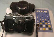 Nikon Range Finder S2 black dial with 5cm f1.4 Lens & manual   Mint Exceptional