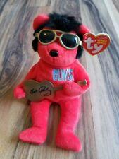 TY Elvis Presley 2009 Heartbreak Hotel Bear Beanie Baby With Guitar • Swing  Tags 6c1a82f3ac72