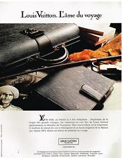 Publicité Advertising 1992 Maroquinerie Bagages Cuir Louis Vuitton