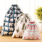 Home Organizer Linen Storage Bag Fashion Printing Portable Hand Pouch