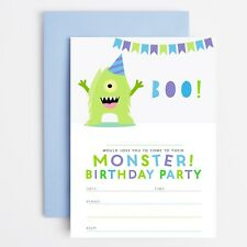 MONSTER BIRTHDAY PARTY INVITATIONS INVITES CHILDRENS BOYS - Monster Party